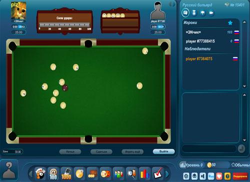 биль¤рд играть онлайн на весь экран